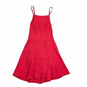 Reformation Red Dress with Cut out Back